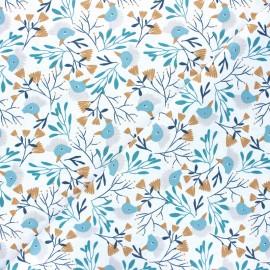Tissu coton cretonne Hyyge - rose x 10 cm