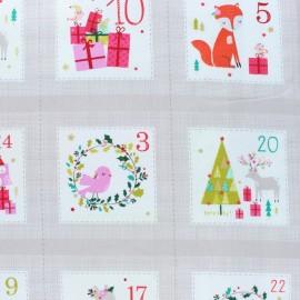 Tissu coton Dashwood Calendrier de l'avent - Joli Noël x 60cm