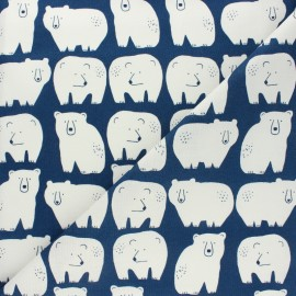 Cotton Dashwood Studio fabric Laska - Polar bear x 10cm