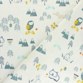 Cotton Dashwood Studio fabric Laska - Edelweiss x 10cm