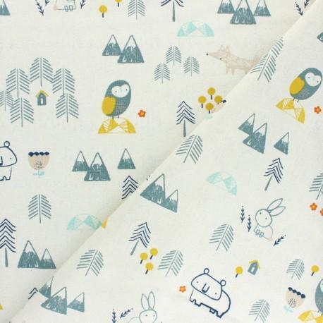 Cotton Dashwood Studio fabric Laska - Edelweiss x 10cm