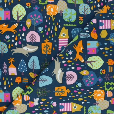 Cotton Dashwood Studio fabric Walk in the woods - Boots x 10cm