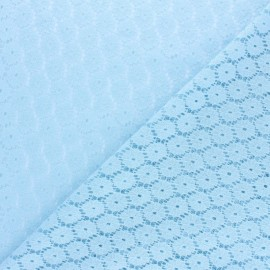 Scalloped Lace Fabric - Sky blue Mélanie x 10cm