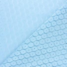 Tissu Dentelle festonné Mélanie - bleu ciel  x 10cm