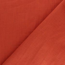 Tissu lin lavé (laize: 135cm) - rouille x 10cm