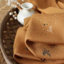 Tissu viscose Atelier Brunette - Twig Ochre x 10cm