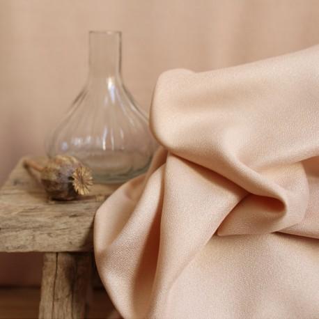 Atelier brunette crepe Viscose fabric - Dune Night x 10cm
