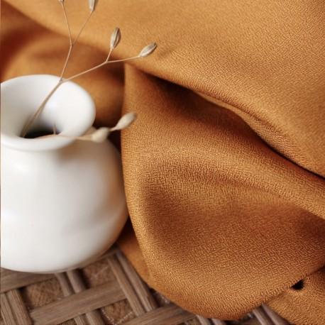 Atelier brunette crepe Viscose fabric - Ochre x 10cm