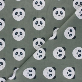 Cotton fabric Maotey - khaki green x 10cm