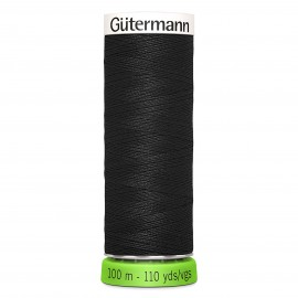 Recycled Polyester Sewing Thread 100m - Black 000