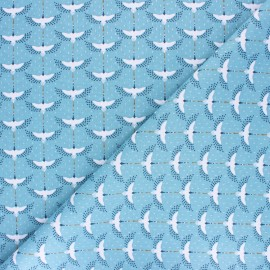 Tissu coton cretonne Mahol - celadon x 10cm