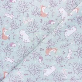 Tissu coton cretonne Silva - menthe x 10cm