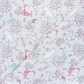 Tissu coton cretonne Silva - grège  x 10cm