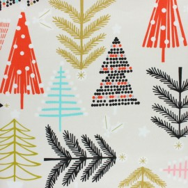 Alexander Henry fabric Christmas time - beige Holiday Pines x 10cm
