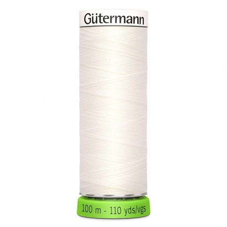 Recycled Polyester Sewing Thread 100m - White 800