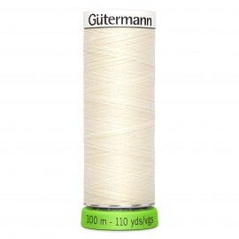 Recycled Polyester Sewing Thread 100m - Raw 111