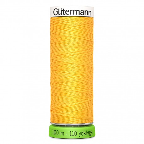 Recycled Polyester Sewing Thread 100m - Lemon yellow 852
