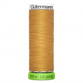 Recycled Polyester Sewing Thread 100m -Yellow 417
