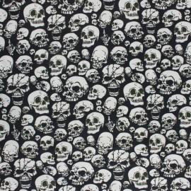 Tissu coton cretonne Skull Fear - noir x 10cm