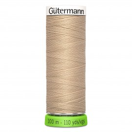 Recycled Polyester Sewing Thread 100m - Sand 186