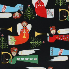 Alexander Henry fabric Christmas time - black Holiday Pine Divine x 10cm