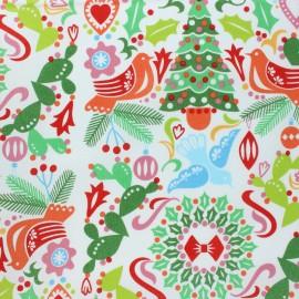 Tissu Alexander Henry Christmas time - Paloma Navidad - écru x 10cm