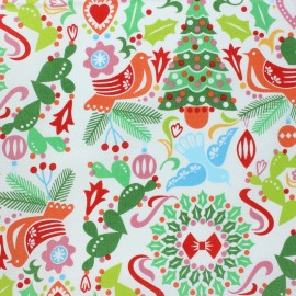 Tissu Alexander Henry Christmas time - Holiday Pine Divine - noir x 10cm