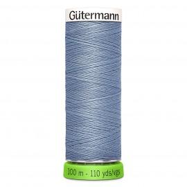 Fil à Coudre Polyester Recyclé 100m - Bleu pastel 75