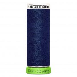 Fil à Coudre Polyester Recyclé 100m - Bleu ardoise 112