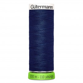 Recycled Polyester Sewing Thread 100m - Slate blue 112