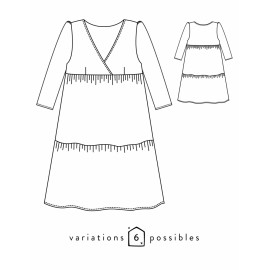 Blouse or Dress Sewing Pattern - Scämmit Eugenie