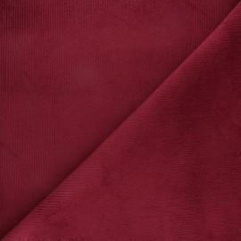 Tissu velours 500 raies élasthanne Destiny - bordeaux x 10cm