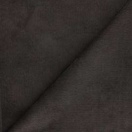 Ribbed velvet fabric Dustin - dark grey x 10cm