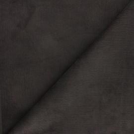 Tissu velours 500 raies élasthanne Dustin - gris foncé x 10cm