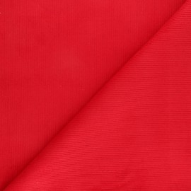 Ribbed velvet fabric Dustin - red x 10cm