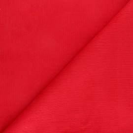 Tissu velours 500 raies élasthanne Destiny - rouge x 10cm