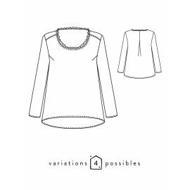 Blouse Sewing Pattern - Scämmit Boheme