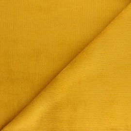 Ribbed velvet fabric Dustin - mustard x 10cm
