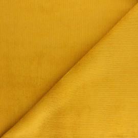 Tissu velours 500 raies élasthanne Dustin - moutarde x 10cm