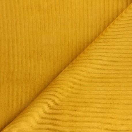Ribbed velvet fabric Dustin - black x 10cm