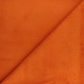 Ribbed velvet fabric Dustin - orange x 10cm
