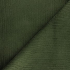 Ribbed velvet fabric Dustin - pine green x 10cm