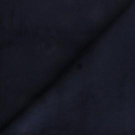 Tissu velours 500 raies élasthanne Destiny - bleu nuit x 10cm