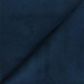 Tissu velours 500 raies élasthanne Dustin - bleu marine x 10cm