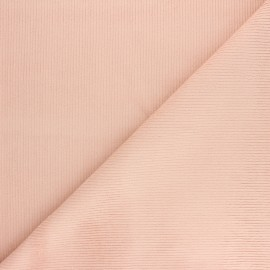 Ribbed velvet fabric Dustin - powder pink x 10cm