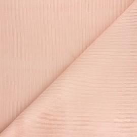 Tissu velours 500 raies Dustin - rose poudré x 10cm