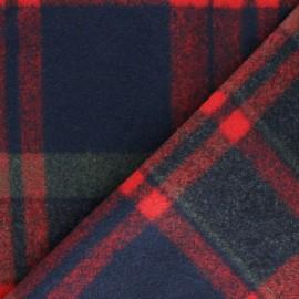Tissu Drap manteau Montréal - rouge/vert x 10cm
