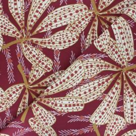 Tissu toile de coton Sazzy - bordeaux x 50cm