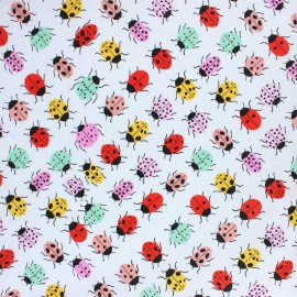Alexander Henry fabric - white Broadwalk Bugs x 10cm