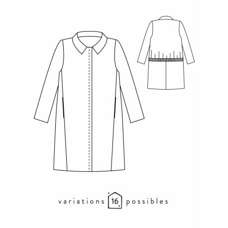 Coat Sewing Pattern - Scämmit Merci